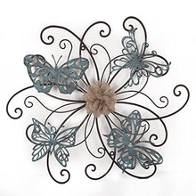 Load image into Gallery viewer, Flower & Butterfly Urban Design Metal Wall Decor - EK CHIC HOME