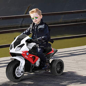 Kids Ride on Motorcycle, Licensed BMW 6V Battery Powered 3 Wheels Motorcycle Toy - EK CHIC HOME