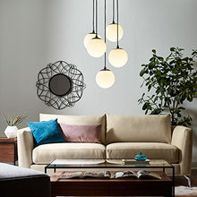 "Load image into Gallery viewer, Rivet Eclipse 5-Globe Hanging Chandelier, 48""H - EK CHIC HOME"