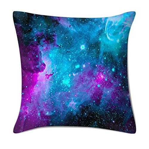 18 x 18 Galaxy Polyester Pillow Cover Soft Square - EK CHIC HOME