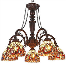 Load image into Gallery viewer, Tiffany Serenity 5-Light Large Chandelier - EK CHIC HOME