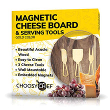 Load image into Gallery viewer, Magnetic Cheese Board & Utensils (Brushed Gold) - EK CHIC HOME