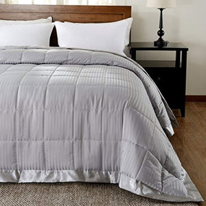 LUX Lightweight Down Alternative Blanket with Satin Trim - EK CHIC HOME