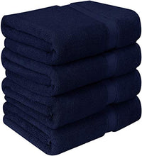 Load image into Gallery viewer, Premium Bath Towels (Pack of 4, 27 x 54) 100% Ring-Spun Cotton Towel Set - EK CHIC HOME