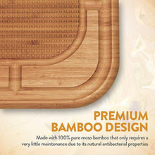 "Load image into Gallery viewer, Premium Bamboo Carving Board with Deep Juice Groove (13.5"" X 13.5"") - EK CHIC HOME"