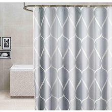 "Load image into Gallery viewer, Luxury Gray Shower Curtain 72""x72"", Gray Water/Teardrop - EK CHIC HOME"