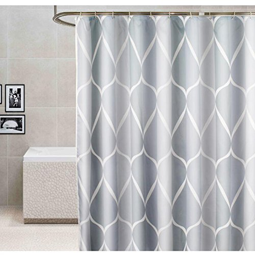 Luxury Gray Shower Curtain 72