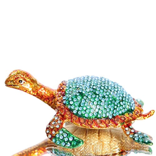 The sea Turtle Trinket Box Hinged Hand-Painted Animal Figurine Collectible Ring Holder - EK CHIC HOME