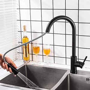 Touch Smart Kitchen Sink Faucets with Pull Out Sprayer - EK CHIC HOME