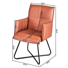 Load image into Gallery viewer, 2Pcs Dining Chairs Leisure Accent Armchairs PU Leather - EK CHIC HOME