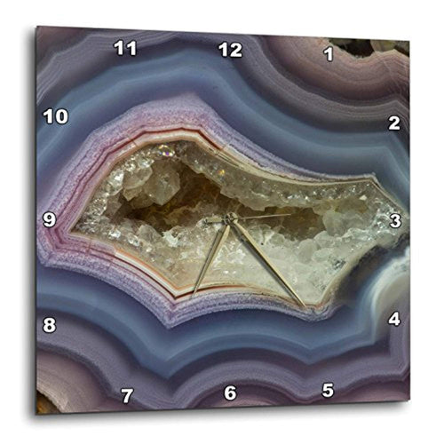 3D CHIC Banded Agate - Quartzsite Wall Clock, 13