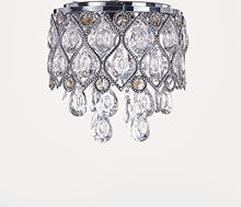 Load image into Gallery viewer, Flush Mount Crystal Chandelier Lighting, Diameter 8 inches - EK CHIC HOME