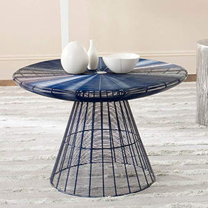 Reginald Blue Wire Coffee Table - EK CHIC HOME