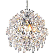 Load image into Gallery viewer, Modern Pendant Chandelier Crystal Raindrop Lighting Ceiling Light Fixture D16 in x H18 in - EK CHIC HOME