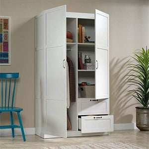 Wardrobe Armoire in White - EK CHIC HOME