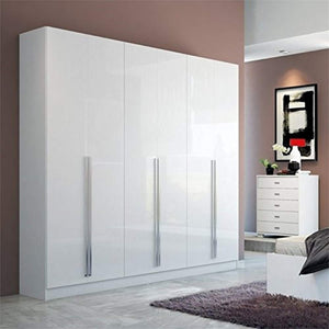 "ULTRA CHIC 90.5"" Wardrobe in Glossy White - EK CHIC HOME"