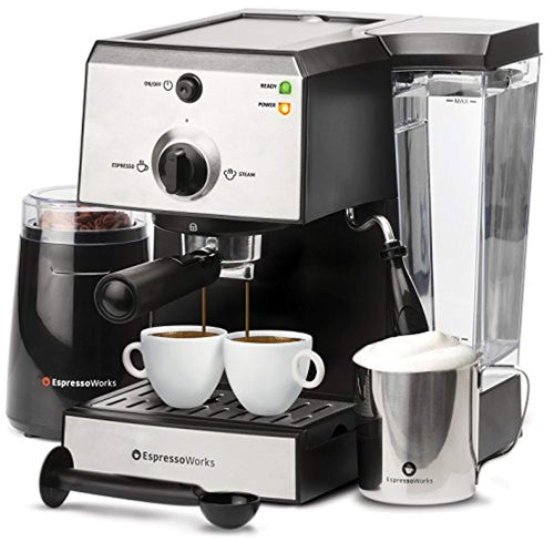 7 Pc All-In-One Espresso Machine & Cappuccino Maker - EK CHIC HOME