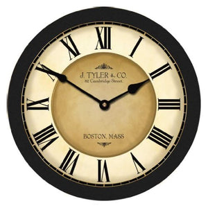 Rare 48-Inch Black Wall Clock Whisper Quiet - EK CHIC HOME