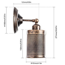 Load image into Gallery viewer, Wall Sconce Industrial Vintage 1-Light, Adjustable Wall Cage Nets - EK CHIC HOME