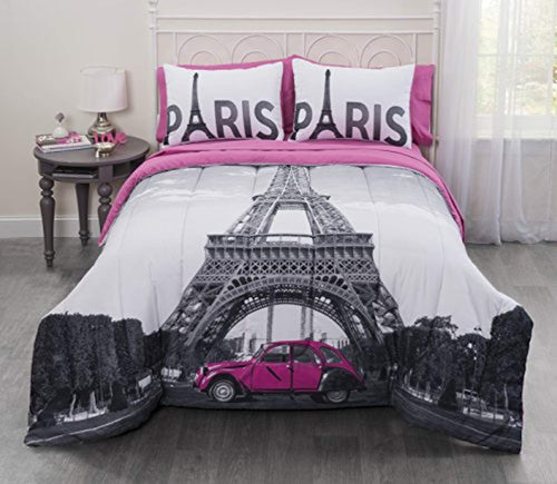 Casa Photoreal Paris Eiffel Tower Bed-in-a-Bag, Queen - EK CHIC HOME
