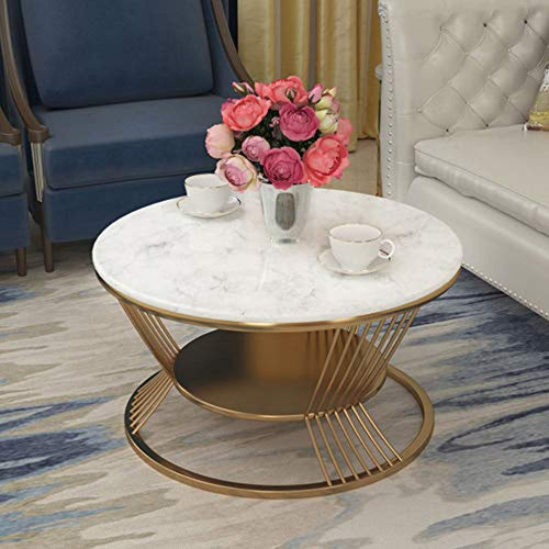 Nordic Marble Tabletop - Round 2-Tier - EK CHIC HOME