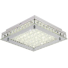 Load image into Gallery viewer, Dimmable LED Ceiling Lights, 10inch Glass Shade Crystal Flush Mount Ceiling Light - EK CHIC HOME