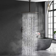 Load image into Gallery viewer, 16 Inches Oil Rubbed Bronze Shower Faucets Sets Complete Bathroom Rain Mixer Shower System - EK CHIC HOME
