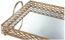 Load image into Gallery viewer, Antique Gold Mirrored Tray - EK CHIC HOME