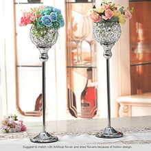Load image into Gallery viewer, Crystal Silver Candle Holder Sets - EK CHIC HOME