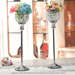 Crystal Silver Candle Holder Sets - EK CHIC HOME