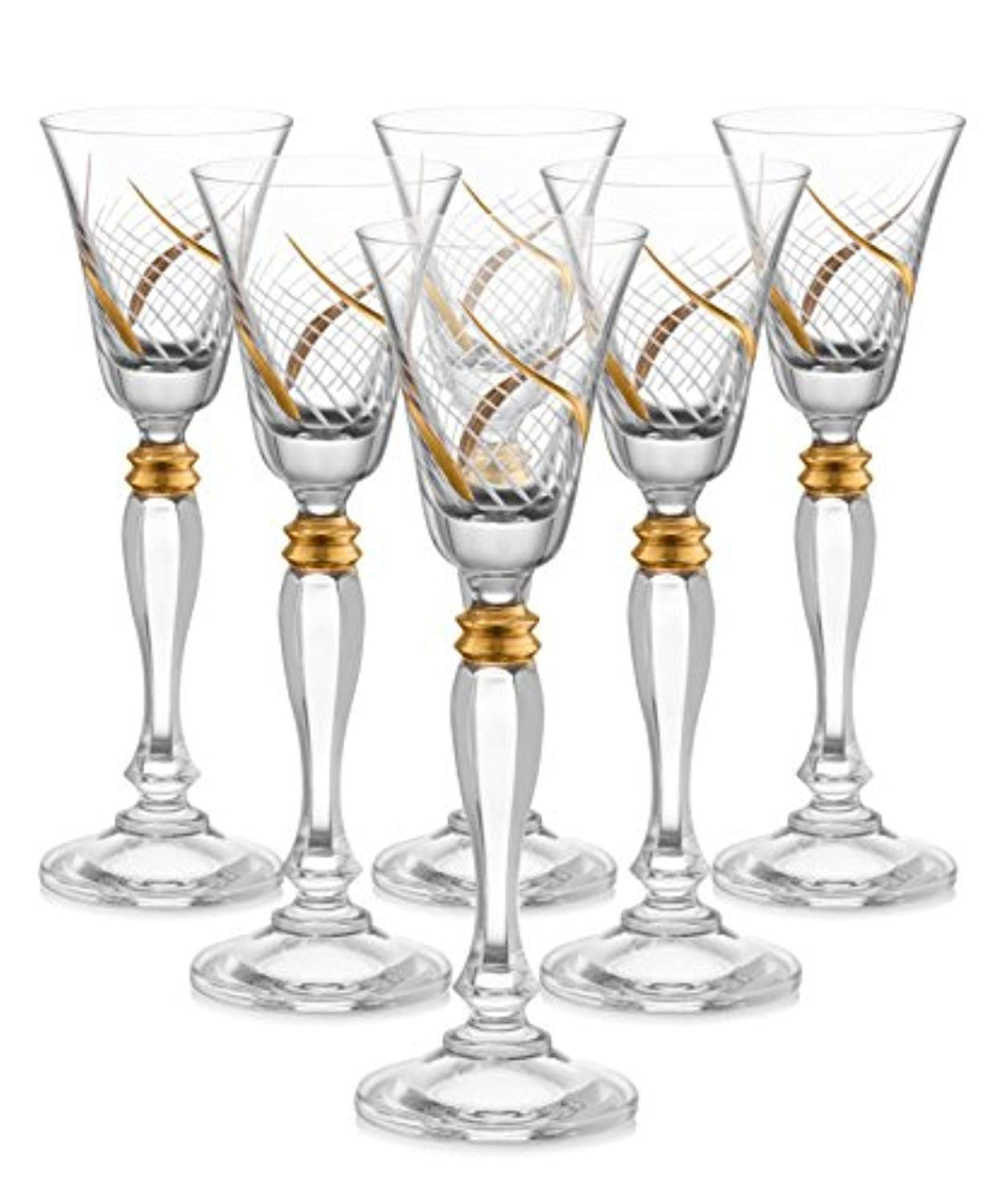 Crystal Cordial Liquor Glasses, 7