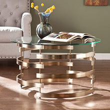 Load image into Gallery viewer, Belmar Cocktail Table, Champagne Finish - EK CHIC HOME