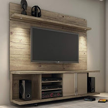 "Load image into Gallery viewer, CHIC Designs 71"" TV Stand and Panel in Natural - EK CHIC HOME"