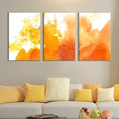 3 Panel Canvas Wall Art - Watercolor Painting - Ready to Hang - 16