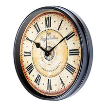 Load image into Gallery viewer, 12 inch Black Wall Clock European Style Retro Vintage Clock Non - Ticking - EK CHIC HOME