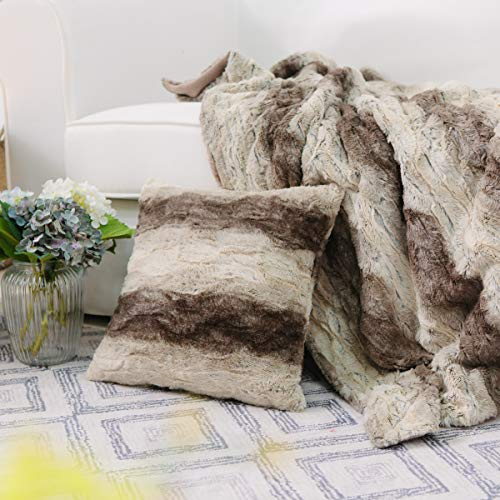 Throw Blanket and Pillow Cover Set Sherpa 50