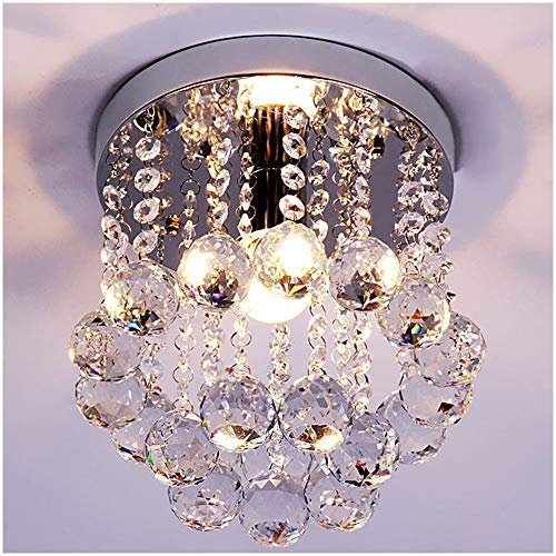 Crystal Chandeliers Modern Flush Mount Fixture - EK CHIC HOME
