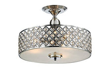 "Load image into Gallery viewer, Modern Crystal Raindrop Chandelier Lighting Flush mount LED Ceiling Light Fixture Pendant H11"" W15.4"" - EK CHIC HOME"