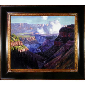 "Edward Henry Potthast ""Looking Across the Grand Canyon"" Framed Oil Painting - EK CHIC HOME"