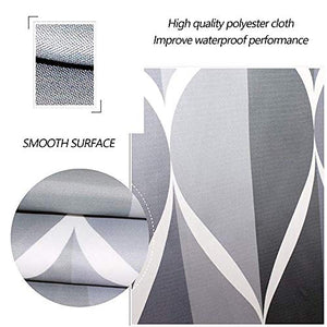 "Luxury Gray Shower Curtain 72""x72"", Gray Water/Teardrop - EK CHIC HOME"