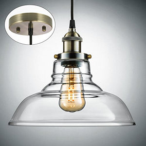 Industrial Hanging Lamp, Vintage Edison Glass Pendant Adjustable Hanging 3-PACK - EK CHIC HOME