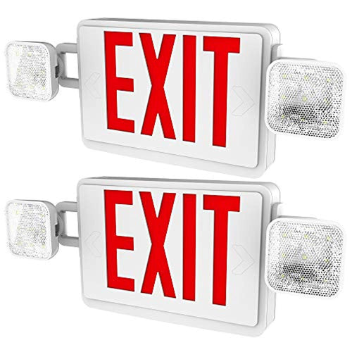 2 Pack Double Sided LED Emergency EXIT Sign - EK CHIC HOME