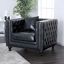 Load image into Gallery viewer, Contemporary Design Dark Gray Leatherette 3 Piece Sofa Set Living Room Furniture - EK CHIC HOME