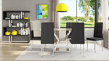 Load image into Gallery viewer, Chic Modern Dining Table with Marble Top and Chrome Base - EK CHIC HOME