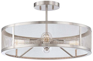 Semi Flush Mount Ceiling Light 4 Round Glass Lighting Fixture - EK CHIC HOME