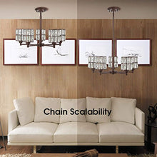 Load image into Gallery viewer, 5 Light Crystal Chandelier Lighting with Brown Finish,Modern and Concise Style Ceiling Light Fixture - EK CHIC HOME