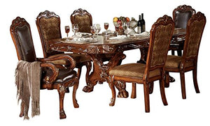 French Formal Dining Room Set with Dining Table and 6 x Dining Chair - EK CHIC HOME