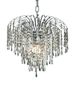 4-Light Hanging Fixture with Elegant Cut Crystals, Chrome Finish - EK CHIC HOME