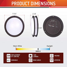 Load image into Gallery viewer, 12 Inch Flush Mount Ceiling Light-Dimmable - EK CHIC HOME