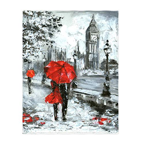 60 x 80 Inch Oil Painting London Super Soft Throw Blanket - EK CHIC HOME